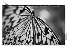 Butterfly On Pink Flowers Carry-all Pouch by Bradley R Youngberg