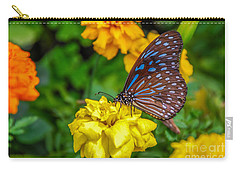 Butterfly On Yellow Marigold Carry-all Pouch