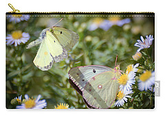 Carry-all Pouch featuring the photograph Butterfly Moments  by Kerri Farley