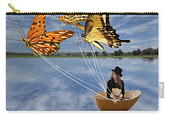 Butterfly Sailing Carry-all Pouch by Linda Lees