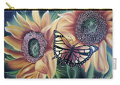 Carry-all Pouch featuring the painting Butterfly Series 5 by Dianna Lewis