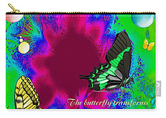 Butterfly Shows The Way Carry-all Pouch by Bobbee Rickard