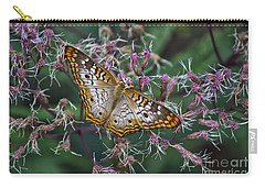 Carry-all Pouch featuring the photograph Butterfly Soft Landing by Thomas Woolworth