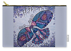 Carry-all Pouch featuring the drawing Butterfly Tangle 2 by Megan Walsh