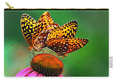 Carry-all Pouch featuring the photograph Butterfly Twins by Christina Rollo