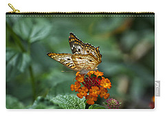 Carry-all Pouch featuring the photograph Butterfly Wings Of Sun Light by Thomas Woolworth