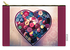 Button Love Carry-all Pouch by Jan Bickerton