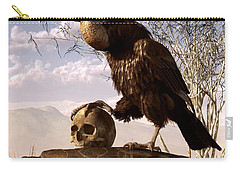 Buzzard With A Skull Carry-all Pouch by Daniel Eskridge