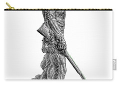 Bw Of Mountaineer Statue Carry-all Pouch