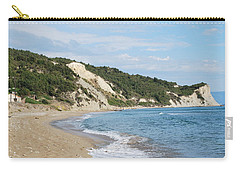 Carry-all Pouch featuring the photograph By The Beach by George Katechis
