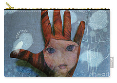 Carry-all Pouch featuring the digital art By The Pricking Of My Thumb by Barbara Orenya