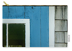 Old Door In Blue Carry-all Pouch