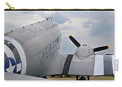Carry-all Pouch featuring the photograph C-47 3880 by Guy Whiteley