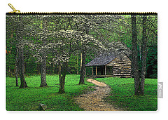 Carry-all Pouch featuring the photograph Cabin In Cades Cove by Rodney Lee Williams