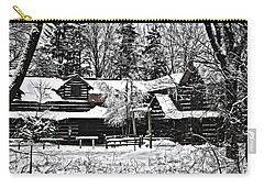 Carry-all Pouch featuring the photograph Cabin In The Woods by Deborah Klubertanz