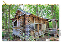 Carry-all Pouch featuring the photograph Cabin In The Woods by Gordon Elwell