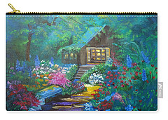 Cabin In The Woods Jenny Lee Discount Carry-all Pouch