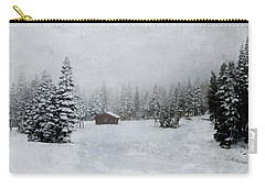 Cabin In The Woods-textured Carry-all Pouch