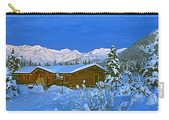 Cabin Mount Alyeska, Alaska, Usa Carry-all Pouch