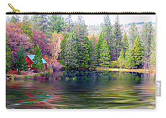 Cabin On The Lake Carry-all Pouch
