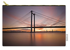 Carry-all Pouch featuring the photograph Cable Bridge by Ronda Kimbrow