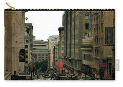Cable Car In The City Carry-all Pouch by Michelle Calkins