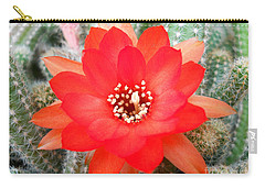 Carry-all Pouch featuring the photograph Cactus Flower by Ramona Matei