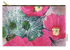 Cactus Flowers I Carry-all Pouch by Mike Robles
