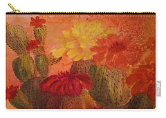 Cactus Garden - Square Format Carry-all Pouch