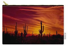 Cactus Glow Carry-all Pouch by Mary Jo Allen