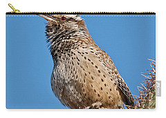 Cactus Wren Singing Carry-all Pouch