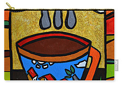 Carry-all Pouch featuring the painting Cafe Criollo  by Oscar Ortiz