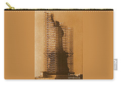 New York Lady Liberty Statue Of Liberty Caged Freedom Carry-all Pouch by Michael Hoard