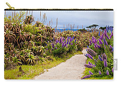California Coastline Path Carry-all Pouch by Melinda Ledsome