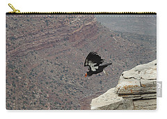 Carry-all Pouch featuring the photograph California Condor Taking Flight by Jayne Wilson