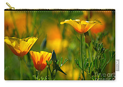 California Poppies Carry-all Pouch by Deb Halloran