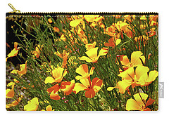 California Poppies Carry-all Pouch by Ed  Riche