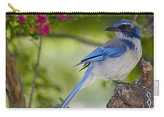 Carry-all Pouch featuring the photograph California  Scrub Jay by Debby Pueschel