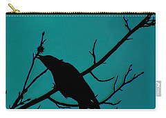 Call Of The Crow On Aqua 2 Carry-all Pouch