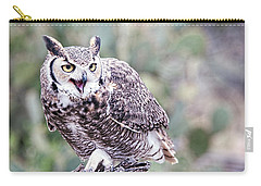 Carry-all Pouch featuring the photograph Call Of The Owl by Dan McManus