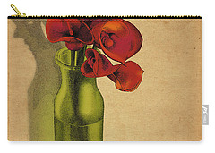 Carry-all Pouch featuring the drawing Calla Lilies In Bloom by Meg Shearer