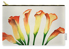 Carry-all Pouch featuring the painting Calla Lilies by Kathy Braud