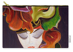 Calla Lily Dame.. Carry-all Pouch