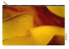 Carry-all Pouch featuring the photograph Calla Lily Waves by Sebastian Musial