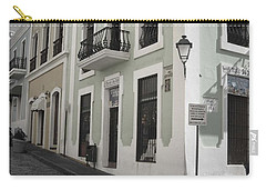 Calle De Luna Y Calle Del Cristo Carry-all Pouch by Daniel Sheldon