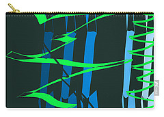 Carry-all Pouch featuring the digital art Calligraphic Doodle With Green by Mary Bedy
