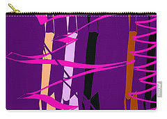 Carry-all Pouch featuring the digital art Calligraphic Doodle With Pink by Mary Bedy