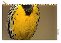 Carry-all Pouch featuring the photograph Calling Eastern Meadowlark by Jerry Fornarotto