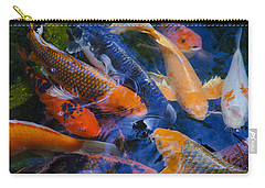 Carry-all Pouch featuring the photograph Calm Koi Fish by Jerry Cowart