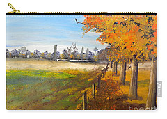 Carry-all Pouch featuring the painting Camden Farm by Pamela  Meredith